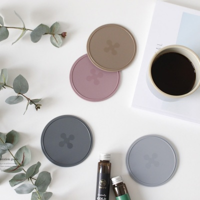 [2HOT] 파스텔 실리콘 원형 컵받침 4P set