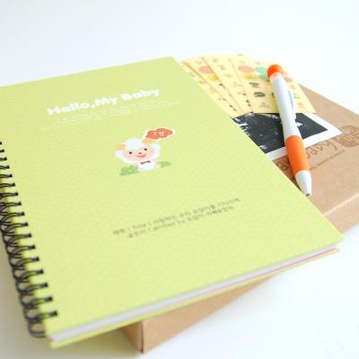 사랑하는 아가에게 양 초음파앨범(임신다이어리)