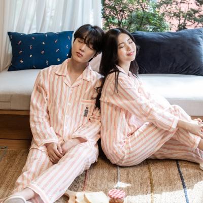 KC인증 베어 자수 순면100% 커플 잠옷 홈웨어