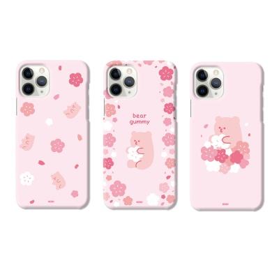 아이폰 xr xs max se2 8 7 베어구미 벚꽃 슬림 케이스