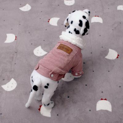 코듀로이 양털카라 똑딱이 강아지옷자켓IP E011