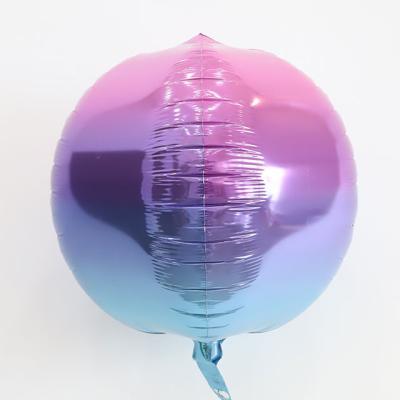 옹브레오브 원형 호일풍선 (퍼플앤블루)