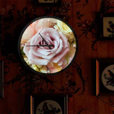 nf122-LED시계액자35R_향기로운분홍장미
