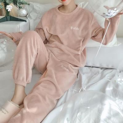여성 홈웨어 잠옷 세트 수면 파자마 푸푸 조거