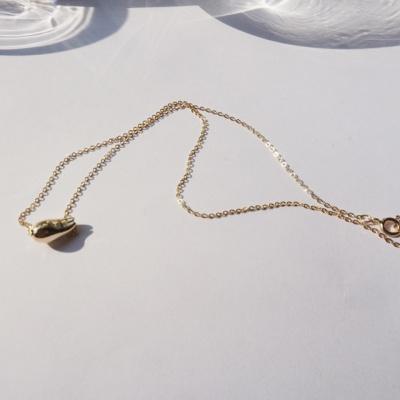 14k gold waterdrop necklace
