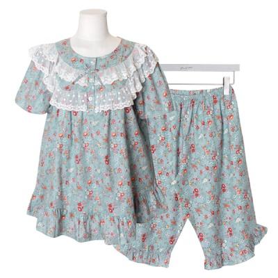 [쿠비카]이단레이스 플라워 5부 투피스 여성잠옷 W607