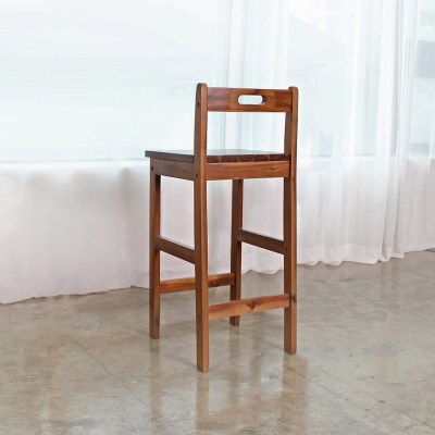 에코상사 아카시아 원목 사각 등받이 바스툴 홈바의자