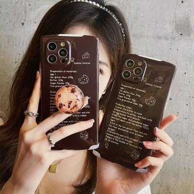 아이폰12 11 pro max xs 8 쿠키 그립톡 레터링 케이스
