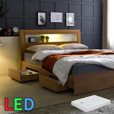 모델하우스 LED조명 서랍 침대 SS(라텍스독립) KC154