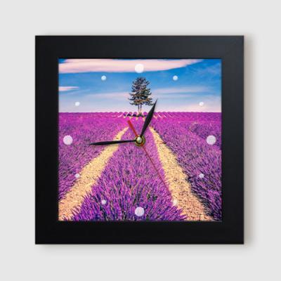 ct934-보라빛가득한라벤더풍경_미니액자벽시계