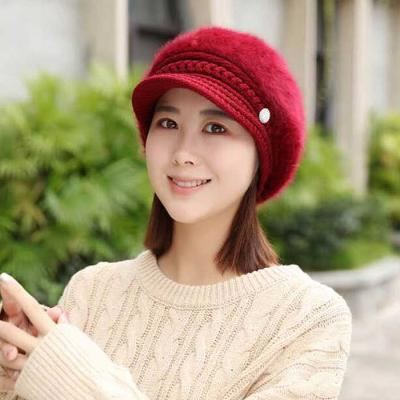 Mujer Invierno knit 앙고라 챙모자 4color CH1651611