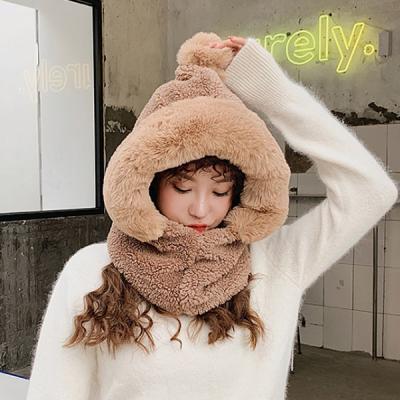츄얼스 겨울 페이크퍼 방한 후드 모자