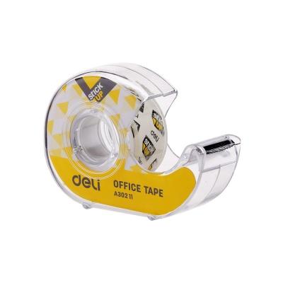 DELI 델리 클리어 휴대용 접착테이프 디스펜서 18mm