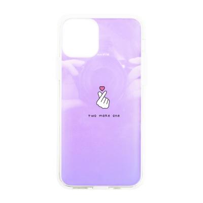 나인어클락 하프미러 한쌍 커플 케이스 - 하트 핑크