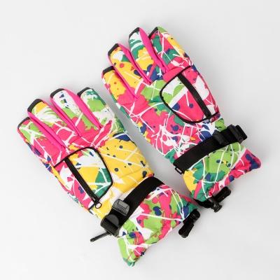 아우터 히든포켓 스키장갑(핑크)
