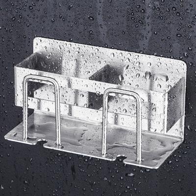 메탈 욕실 칫솔 거치대 걸이 꽂이 홀더 통 (2인용)