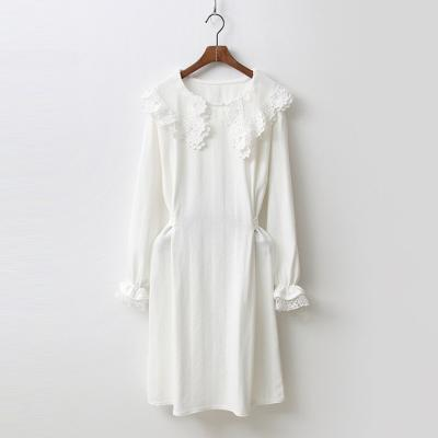 White Lace Collar Frill Dress