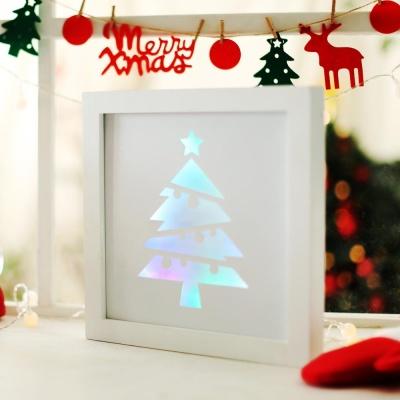 LED 크리스마스장식 액자 (홀로그램 트리)