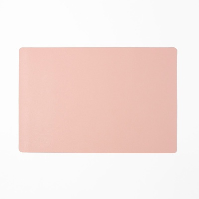 모던 양면 가죽 테이블매트(핑크+실버) 식탁 데코매트