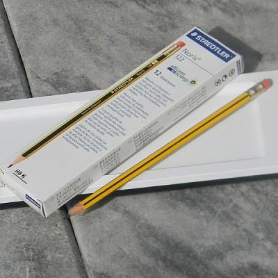 [STAEDTLER] 독일 스테들러 지우개연필..노리스 No.122-HB/1다스(12자루)