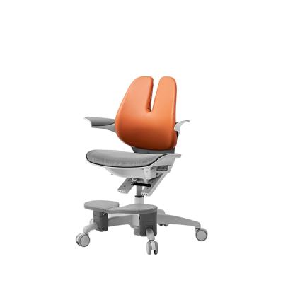 듀오백 래빗070MDF 에어로 아동의자 듀얼린더+발받침
