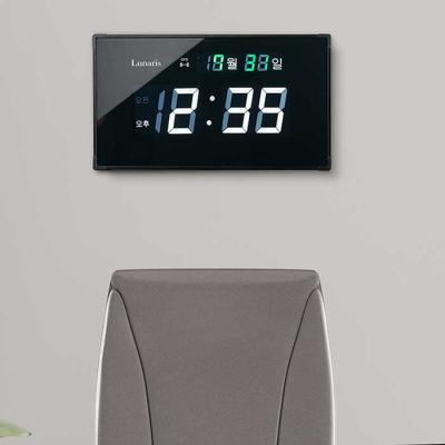 Lunaris 전파GPS 벽시계 연장케이블 포함 40.5x22cm