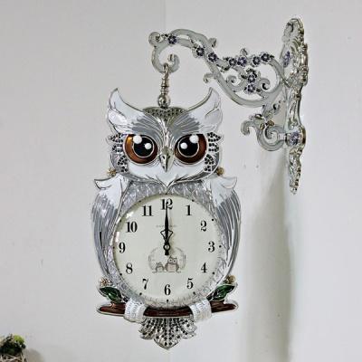 (kmkz0427)트윙클 부엉이 양면시계 (실버)