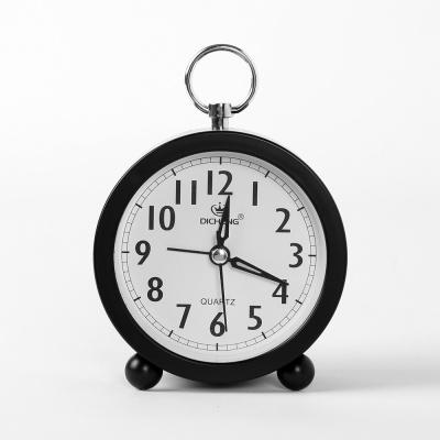 퀴리 원형 알람 탁상시계(블랙)