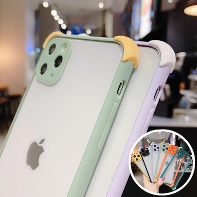 아이폰12 프로맥스/미니 컬러 범퍼 투명하드 폰케이스