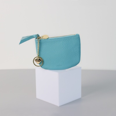 [이니셜 커스텀] Half moon wallet _ Sky blue