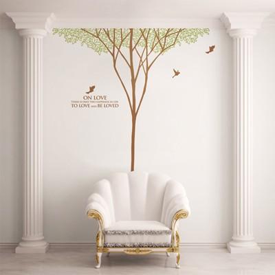 숲이야기(나무1그루) (반제품C)  그래픽스티커 포인트 시트지 인테리어 스티커