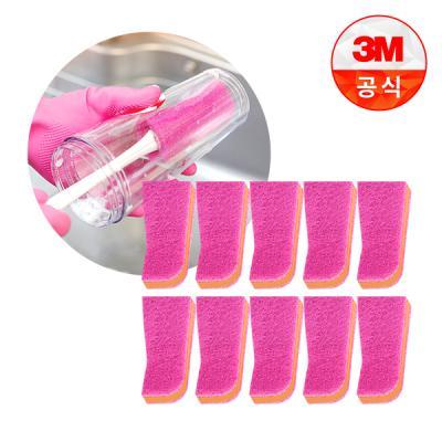 [3M]보틀 수세미용 리필(1입)_플라스틱용 10개