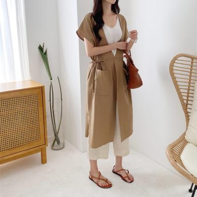Linen Cotton Long Vest N Jacket