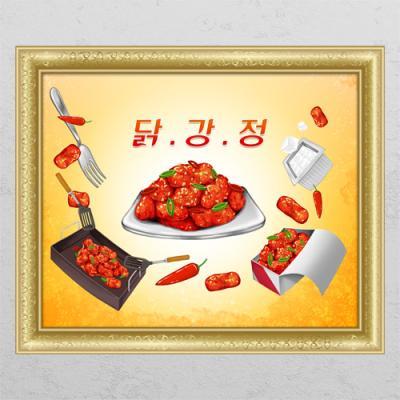 id694-닭강정_창문그림액자
