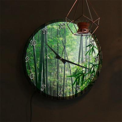 nf310-LED시계액자35R_풍수에좋은대나무