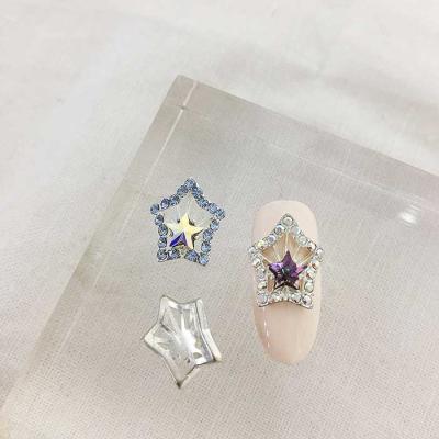 Woman bonita nailparts 큐빅메탈 더블스타1개 2color