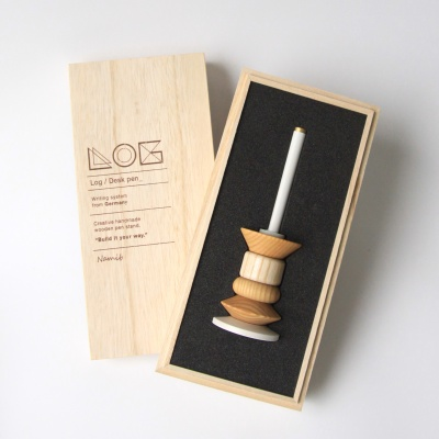 로그 데스크 펜 Desk Pen(Wood Ornament)