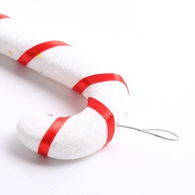 트리장식 반짝이 지팡이 25cm - 화이트