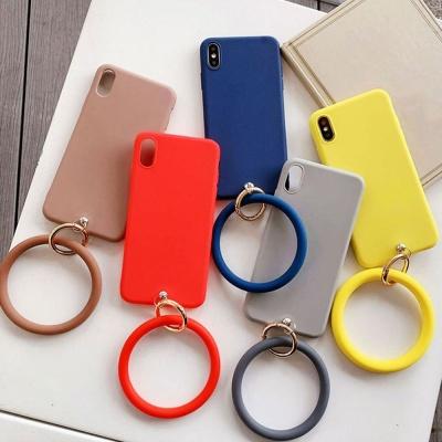아이폰11 PRO MAX 핸드 링 스트랩 무지 실리콘 케이스