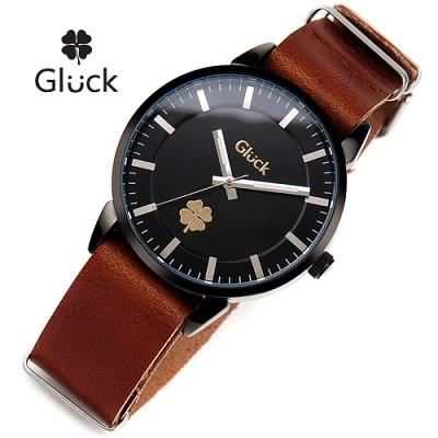 [Gluck]글륵 행운의 시계 GL1302-BKBR 나토밴드 본사정품