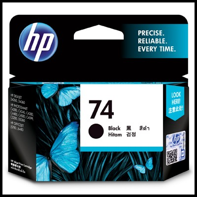 HP 정품 CB335WA (74) CB335 HP74 OJ J5780/J6480 Photosmart C4280/C4345/C4380/C4385/C4480/C4580/C4599/C5240/C5280/D5360 DJ D4260/D4360