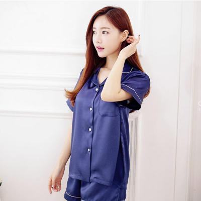 [쿠비카]깔끔한 삥줄 포인트 3부 투피스 잠옷 W024
