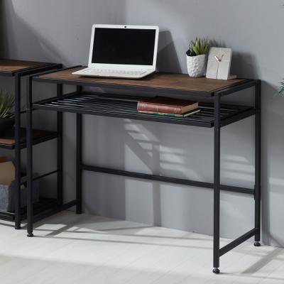 인터데코 DIY 소나무원목 스틸 수납형 책상 TR010