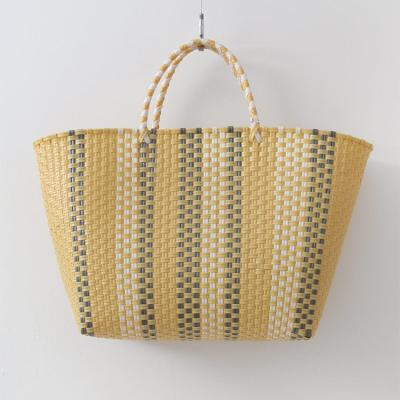 Nylon Stripe Tote Bag