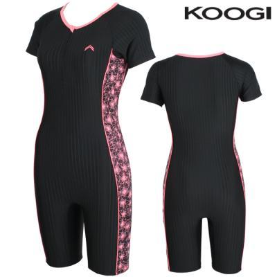 KS-M272 쿠기 여성인 반전신반팔 실내수영복