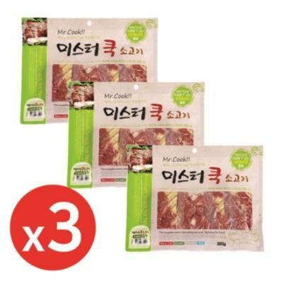 미스터쿡300g 소고기스테이크칩 x3개 강아지간식
