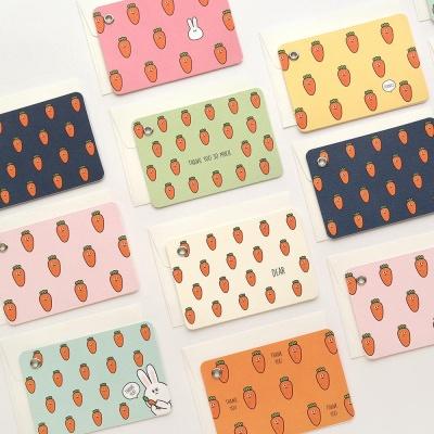 핑크풋 당근 메세지 카드(8종1세트)