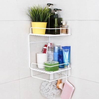 [공간활용템] 와이어라인 2단 욕실선반 2color