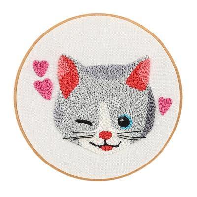 펀치니들 DIY 촘촘이 고양이