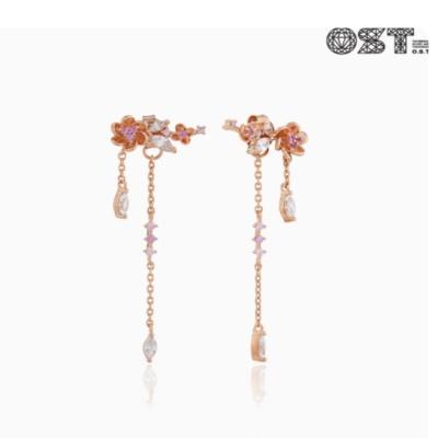 꽃마름 실버 귀걸이 OTE117415QPP